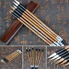 6pcs/set Traditional Chinese White Clouds Bamboo Wolf's Hair Calligraphy Brush