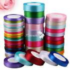 Внешний вид - 6/15/25mm Satin Ribbon Sewing Fabric Gifts Wrapping Wedding Party Decoration