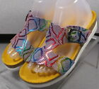 HOLLY MULTI IRID LMSPSA60 Women's Shoes Size 7 Eur 4.5 Leather Sandals MEPHISTO