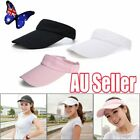 Visor Sun Hat Golf Tennis Beach Men Women Cap Adjustable Sports Gym Plain NW