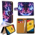 Leather Smart Stand Wallet Card Cover Case For Various Motorola Moto G SmartPhon