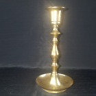 "Solid Brass 308g Candlestick Candle Holders 7"" Tall Vtg"