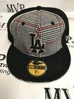 LOS ANGELES DODGERS Black Logo Fitted 59Fifty Baseball Cap