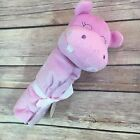 Carter's Lavender Pink Hippo Snuggle Blanket Nunu Lovey Blankey Security NEW NWT