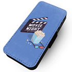 Movie Night - Faux Leather Flip Phone Case #2 - Cinema Film Screen Popcorn 3D