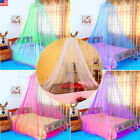 US Round Lace Insect Bed Canopy Netting Curtain Dome Mosquito Net Elegant White image