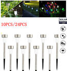10/24 PCS LED Lawn Light Solar Power Outdoor Garden Landscape Lawn Path Lamp US