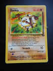 Pokemon Card - 1999 Wizards - Mankey 55/64 - Nintendo