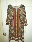 Maria Gabrielle Women's Dress NWT Plus Size Multi-Color Aztec Print Stretch 3/4