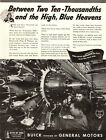 1943 WW2 AD BUICK builds Pratt & Whitney engines for B-24 Liberators 032419