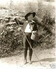 Vintage Little Boy In Knickers Fishing Creel Antique Bamboo Fishin Rod Trout