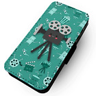 Camera Character - Faux Leather Flip Phone Case #2 - Movies Films Cinema Silver