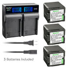 Kastar Battery LCD Rapid Charger for Panasonic VBG260 HDC-TM700 HDC-TM700K