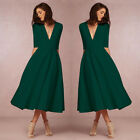 Long Evening Bridesmaid Dresses Party Prom Cocktail Swing Dress Formal Ball Gown