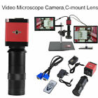 14MP HDMI VGA HD Industry 60F/S Video Microscope Camera 8-130X Zoom C-mount Lens