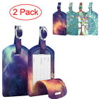 2 Pack Luggage Tags Name Address ID Labels w/ Back Privacy Cover Fo Bag Suitcase