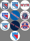 New York Rangers Set 10 Buttons or Magnets 1.25 inch $4.5 USD on eBay