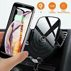 Wireless Car Charger Mount, Auto Clamping 10W Qi Fast Charging Air Vent Phone Xs
