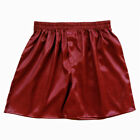 US Stock Men's Thai Silk Boxer Shorts Stain Underwear Pajamas Casual Beach Wear