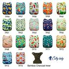 Cathy Baby Cloth Diapers Reusable Washable Pocket Nappy Adjustable select insert