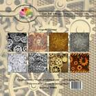 New Dixi Craft 15cm x 15cm Paper Pad Gears Background