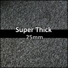 'Funky 25mm Thick Dark Grey Black Artificial Fake Grass 2m Wide