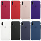 Original Geunine For A pple i Phone XS OEM Ultra-Thin Silicone Case Phone Cover