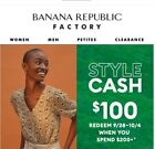 Banana Republic Factory Style Cash up to 100 OFF Store Online 9 16 23 FastEmail