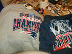 NEW EGLAND PATRIOTS 2 IN A ROW SUPPER BOWL1 SWEAT 1SHIRT LOT OF 2 FREE SHIPPING