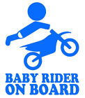 Baby Rider On Board Racing Super Bike Wall Car Laptop  + Buy 1 Get 1 FREE