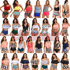 US Womens Push Up Padded Bikini Set High Waisted Swimsuit Bathing Suit Swimwear