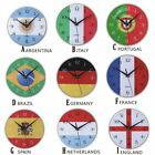 Large Wall Clock Modern Vintage Rustic Wooden Home Kitchen Silent 12Inch M1