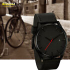 Men's Fashion Sport Stainless Steel Case Leather Band Quartz Analog Casual Watch image