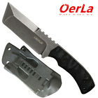 Oerla Field Knife Fixed Blade Stonewashed Cleaver G10 Handle and Kydex Sheath