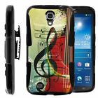 For Samsung Galaxy Mega 6.3 Rugged Hybrid Holster Belt Clip Case Armor Kickstand