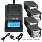 Kastar Battery LCD Fast Charger for Canon BP-820 BP-828 Canon XA20 Video Camera