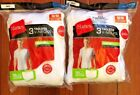 6 pack hanes mens v neck white t shirt choose your size image