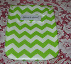 "Diapees and Wipees Diaper Case and Wipes Cover - Chevron Green - 10"" X 7"""