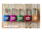 Personalised Engraved Love Padlock - 5 colours - Add Message - 2 Keys - Kiss