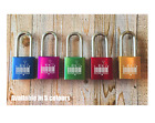 Personalised Engraved Love Padlock - 5 colours - I love you Barcode - Add text