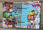 SUPERHEROES AVENGE THE WORLD & MONSTER GIRLS PARTY INVITATION OR THANK YOU CARD