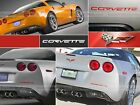 DKM | REAR BUMPER LETTERS RED FOR CHEVROLET CORVETTE C6 2005-2013 NOT DECALS