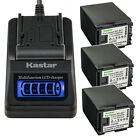 Kastar Battery LCD Quick Charger for OEM Canon BP-827 & Original Canon CG-800