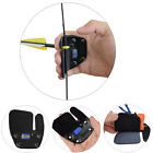 Leather Archery Finger Tab Protect Guard Glove for Recurve Bow Right  Handed