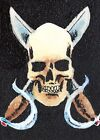Pirate Art ACEO Original Drawing Jolly Roger Flag Fantasy Nautical Sea Skull