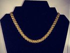 """Monet Gold Tone Woven  Chain Choker  SIGNED    15""""    No flaws"""