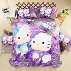 Hello Kitty kids 4pc Bedding Sets Duvet Cover Bed Sheet Twin Full Queen Size image