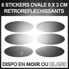 Stickers Reflectors Sticker Security - Visibility the Night - Black or White image