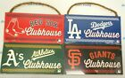 "MLB Clubhouse 10"" x 5"" .25"" Hanging Rope Wood Sign by Wincraft on Ebay"