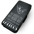 The Voices Inside My Head - Faux Leather Flip Phone Case #1 - Tattoos Art Funny